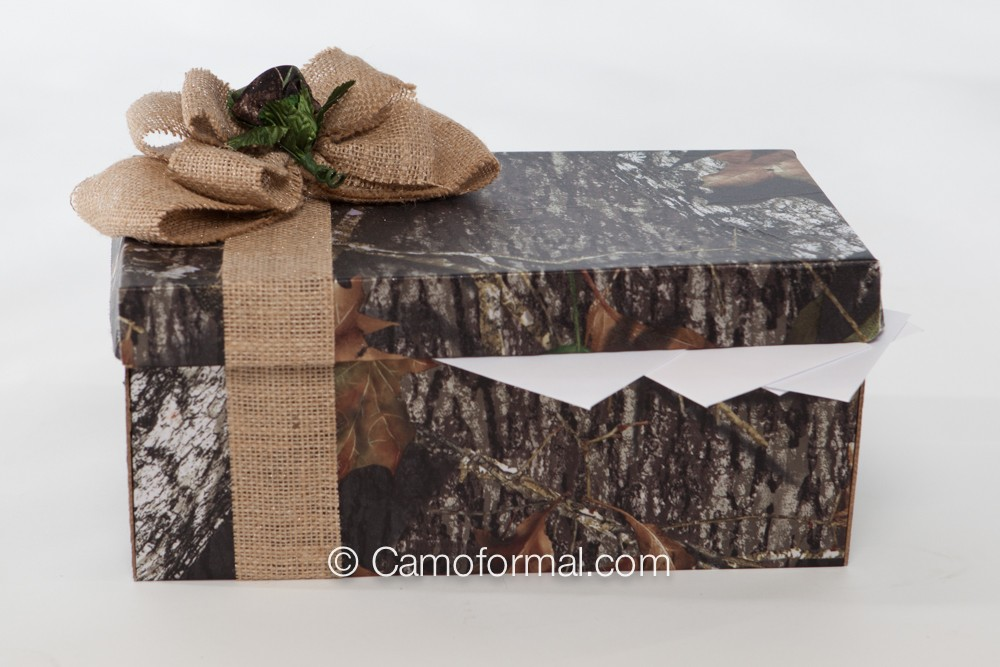Wedding Gift Collection Boxes: Camo And Burlap Bow 12 Piece Collection Camouflage Prom