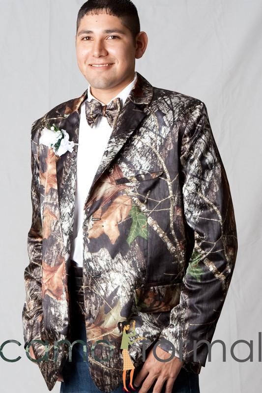 Camo Tuxedo Blazer Jacket Camouflage Prom Wedding