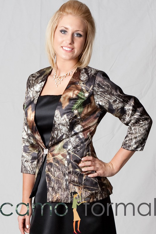 Jacket Only Long Sleeve With Clasp Mobj5 Camouflage Prom