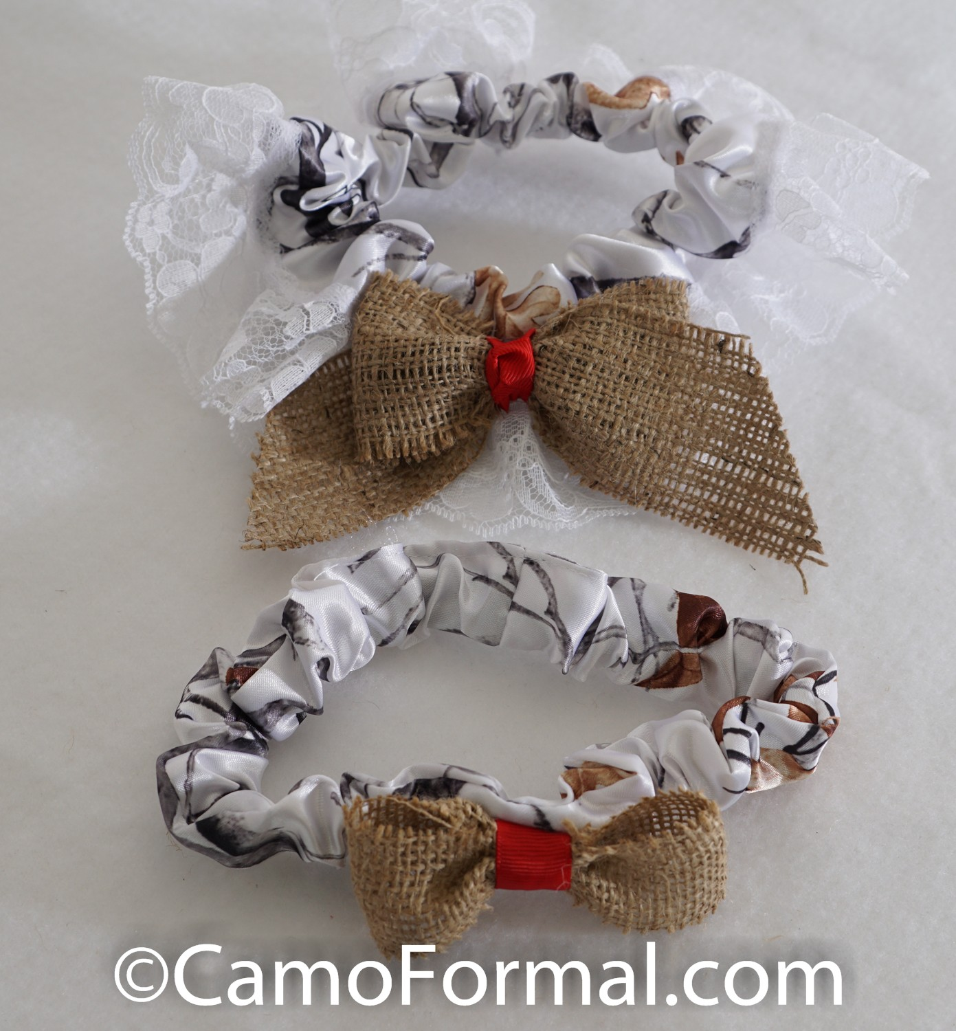 Camo And Burlap Bow 7 Piece Collection Camouflage Prom